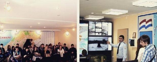 Самарские студенты побывали на экскурсии в УМВД