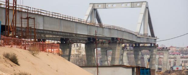 Начат очередной этап строительства Фрунзенского моста